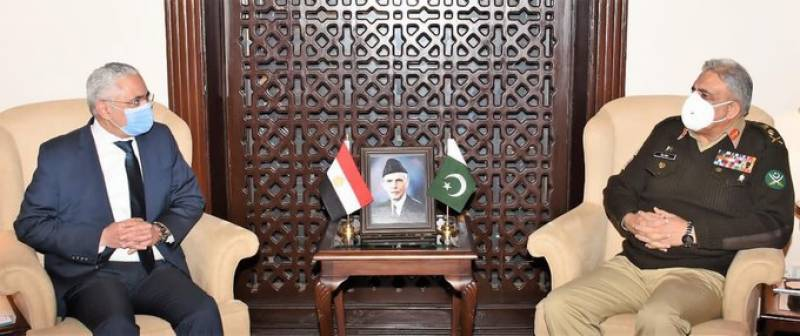 Pakistan Army chief discusses regional security, defense cooperation with Egyptian Ambassador: ISPR