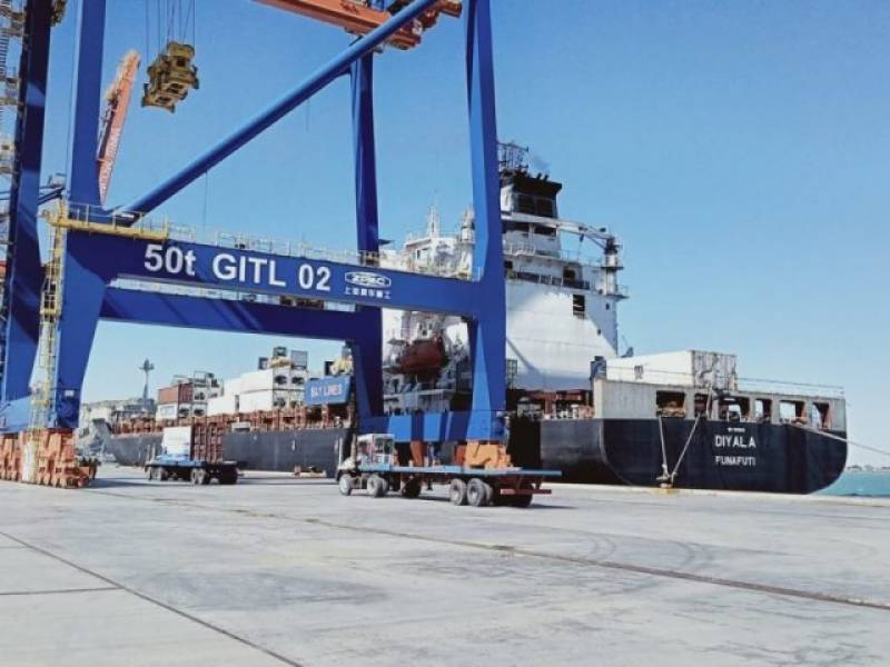 First international transit activity starts at Gwadar as 200 ton fish arrives