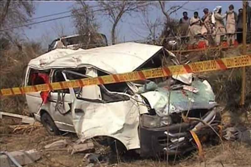 3 killed as AJK-bound passenger van plunges off bridge near Mirpur