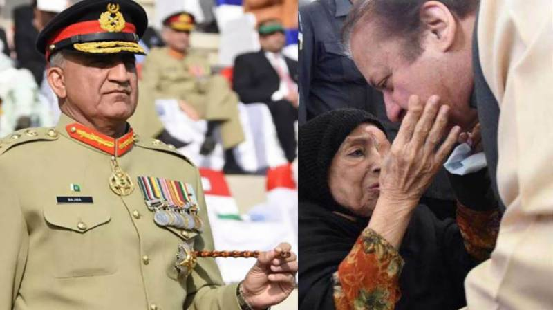 Army chief expresses condolences on demise of Sharifs' mother