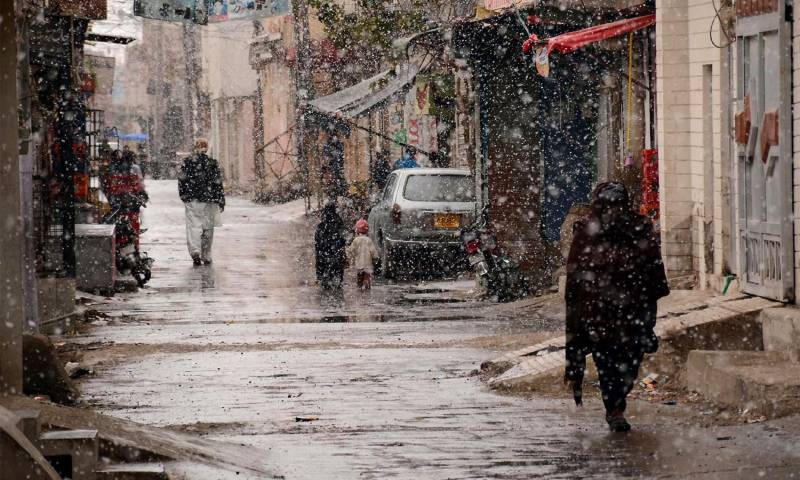 Rain, snowfall in different parts of country turns weather cold