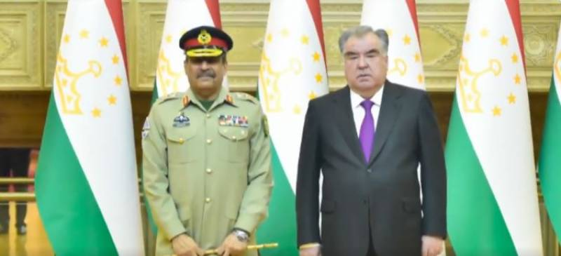 CJCSC Gen Nadeem Raza discusses defence, security cooperation with Tajikistan leadership