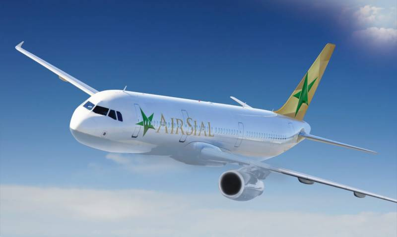 AirSial's first Airbus reaches Karachi airport (VIDEO)