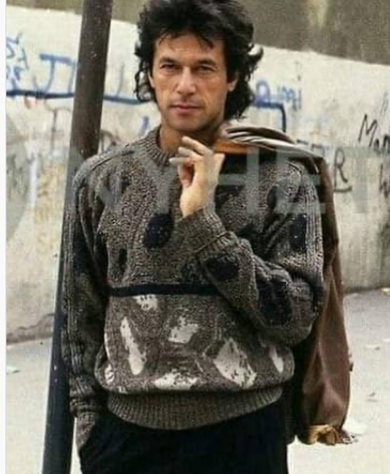 'Young Imran Khan' in old photo