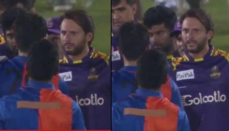 Shahid Afridi schools Afghan player for misbehaving with Muhammad Amir
