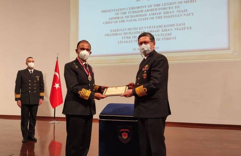 "Turkey confers ""Legion of Merit"" on Pakistan Naval Chief"
