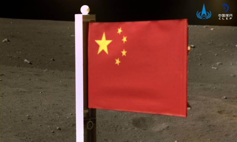 China becomes world's second nation to plant flag on Moon