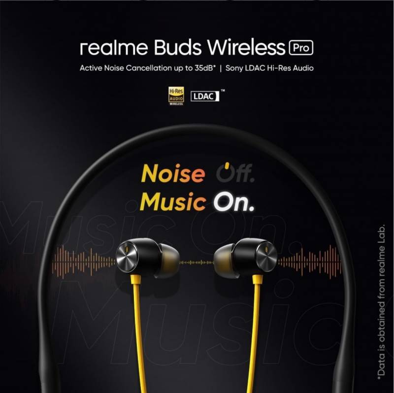 """Pakistan's fastest growing AIoT brand realme set to launch new smart audio """"realme Buds Wireless Pro"""""""