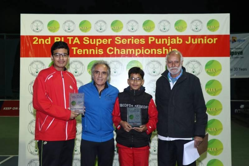 Abubakar, Ameer win double crowns in Punjab Junior Tennis