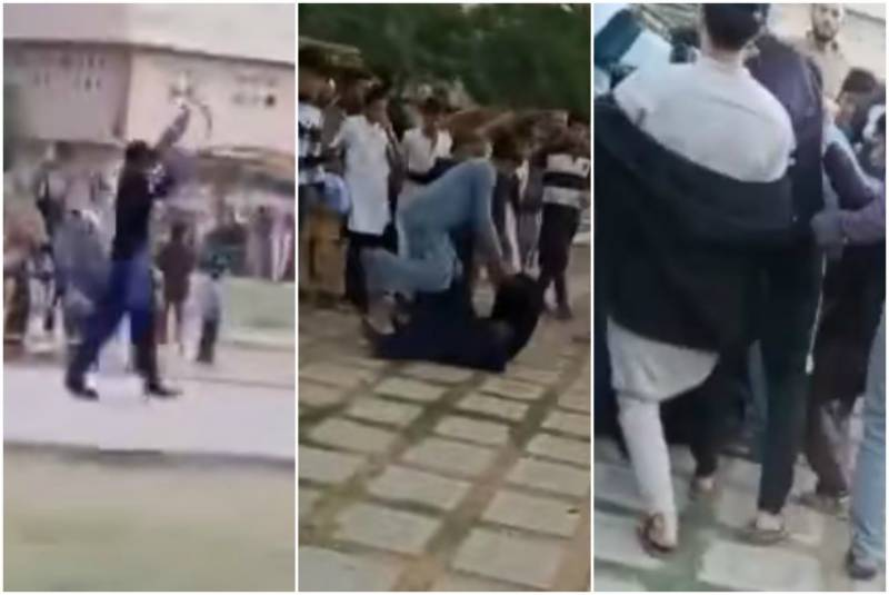 Crowd beats up security guard who opened fire to stop children from playing football (VIDEO)