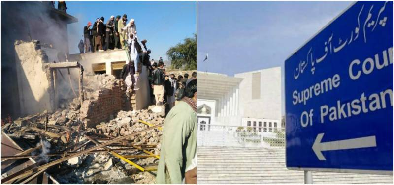 CJP takes suo motu notice of attack on temple in KPK
