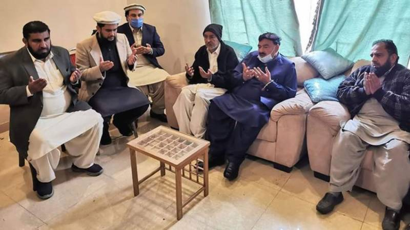 Interior minister meets Usama Sati's family, vows justice to slain student