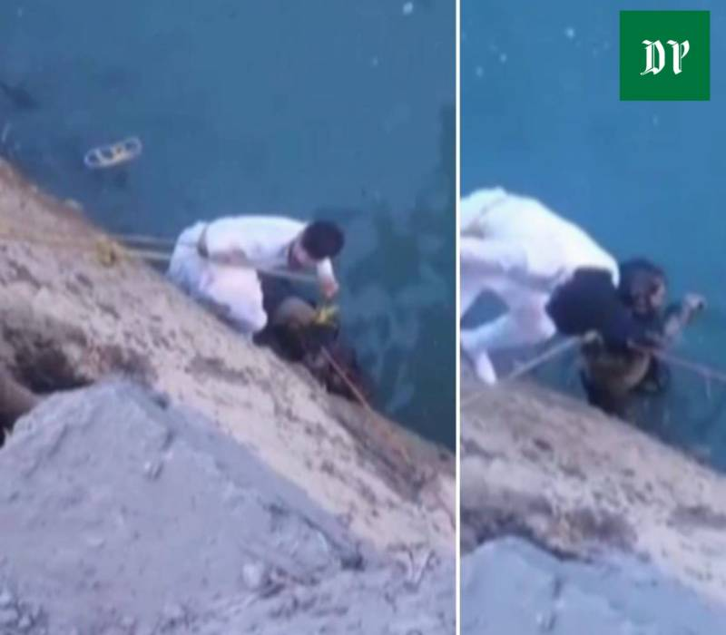 Man risks life for drowning stranger in Chitral (VIDEO)