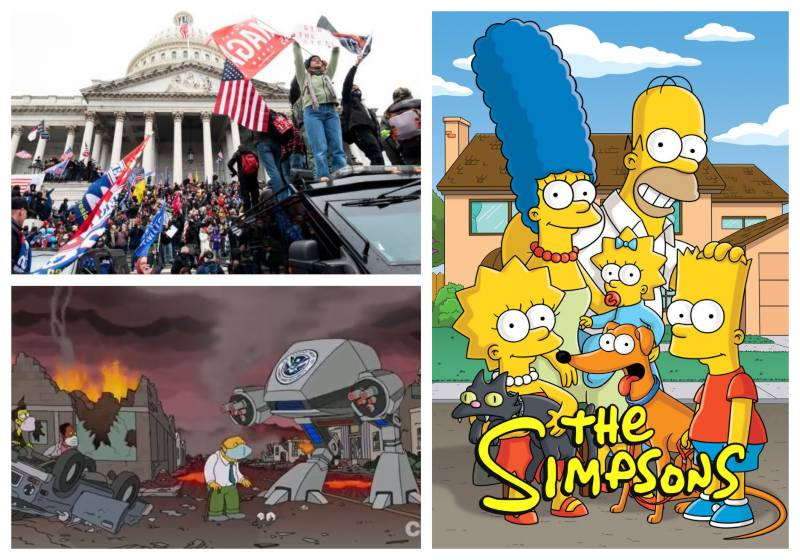 The Simpsons predicted the Capitol Hill riots in 1996