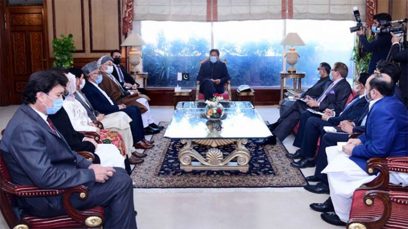 Afghanistan's Ustad Khalili calls on PM Imran Khan (VIDEO)