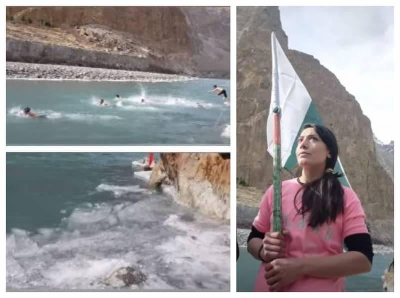 Pakistan's first ever -16℃ Open Water Swimming competition held in Hunza