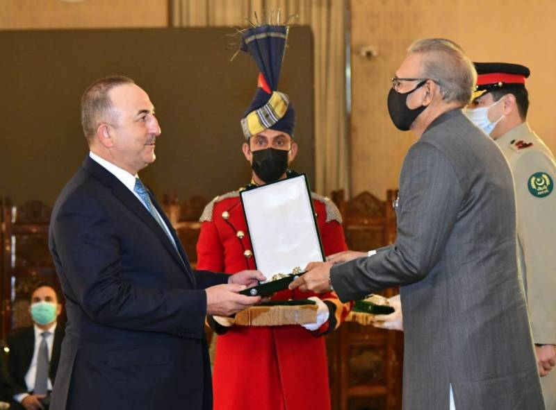 Pakistan confers Hilal-e-Pakistan on Turkish FM
