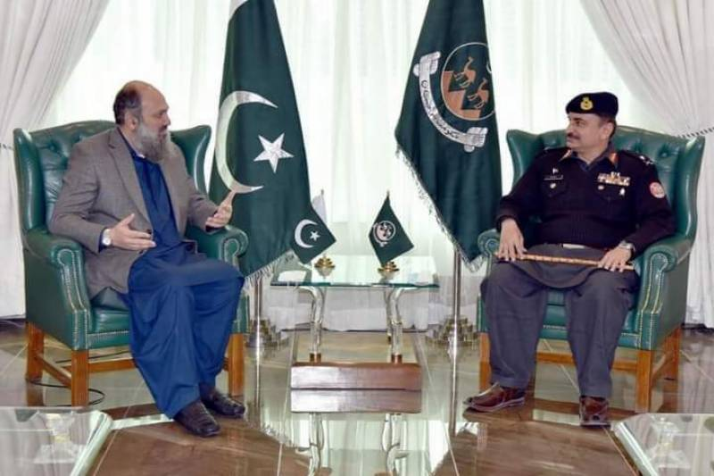 IG FC pays farewell call to Balochistan CM