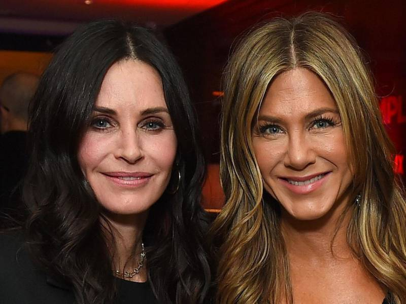 Friends stars Jennifer Aniston and Courteney Cox team up for COVID-19 mask awareness