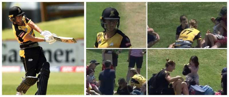 Divine gesture – New Zealand captain pauses match to check out little girl hit by her shot (VIDEO)