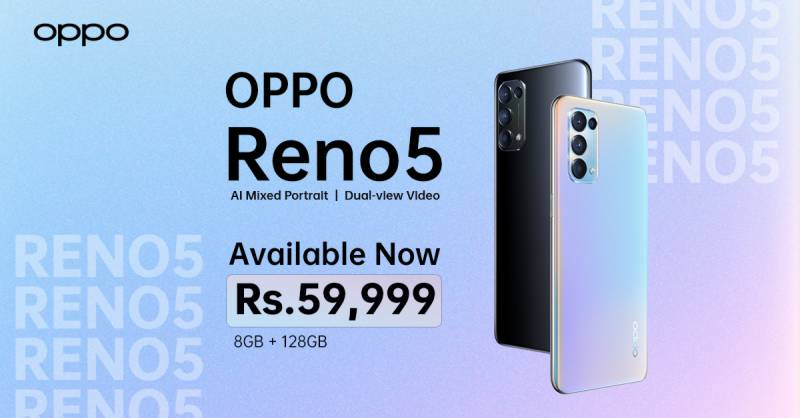 Oppo Reno5 is Now Available in the Market for all Photography Enthusiasts at PKR 59,999