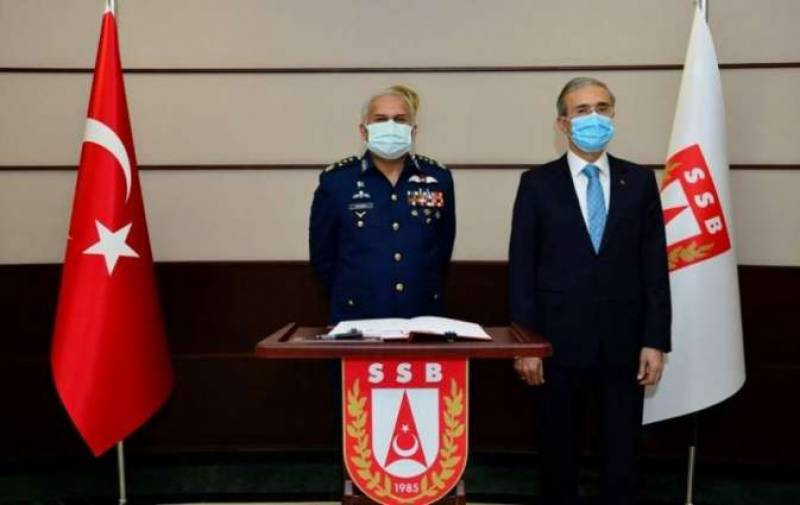 Pakistan Air Force chief meets Turkish defence industries head