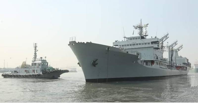PNS Nasr sets sail for Africa on humanitarian mission (VIDEO)