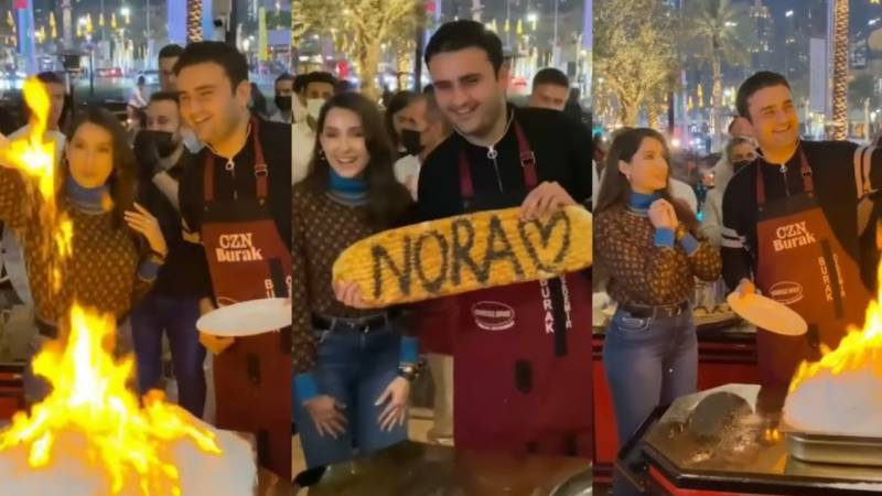Nora Fatehi 'had fun last night' with Turkish chef Burak in Dubai (VIDEO)