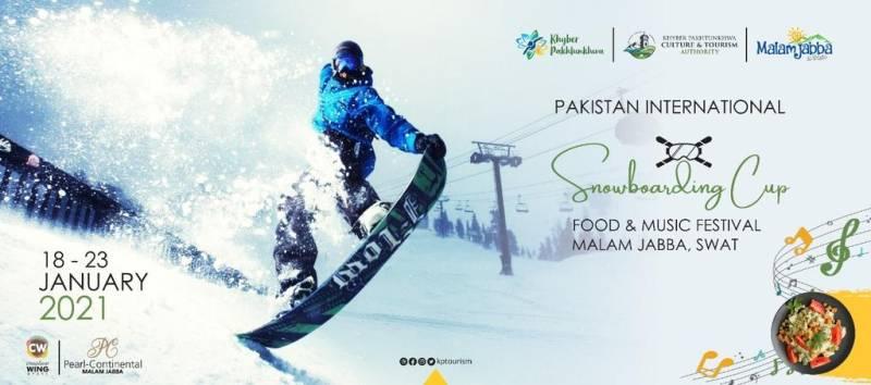 Pakistan International Snowboarding Championship starts in scenic Malam Jabba