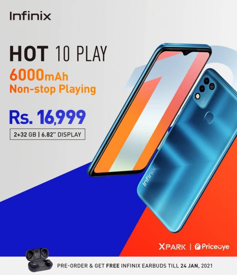 Infinix Hot 10 Play with 6000mAh battery is up for pre-orders