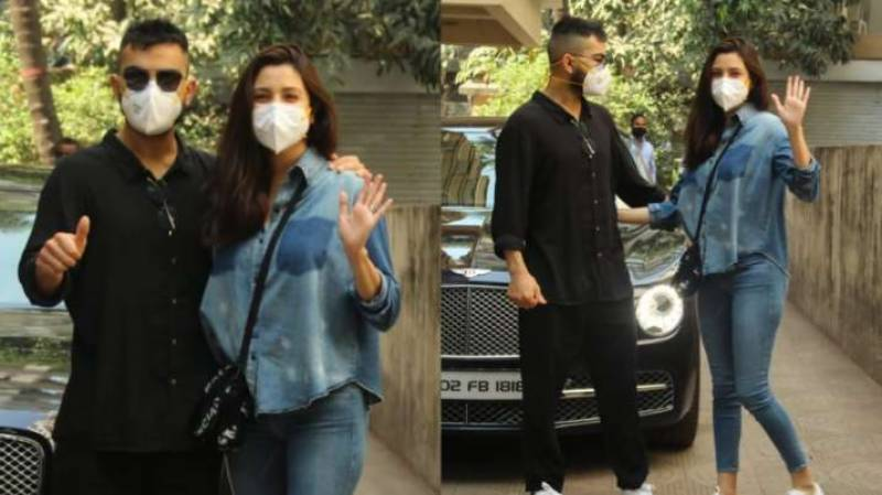 Virat and Anushka make first appearance after daughter's birth