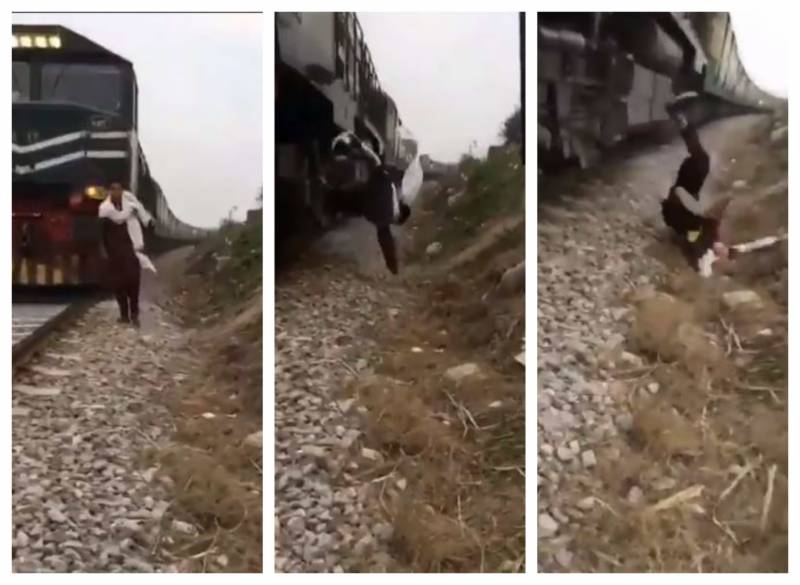 WATCH – Rawalpindi youngster run over by train while shooting TikTok video