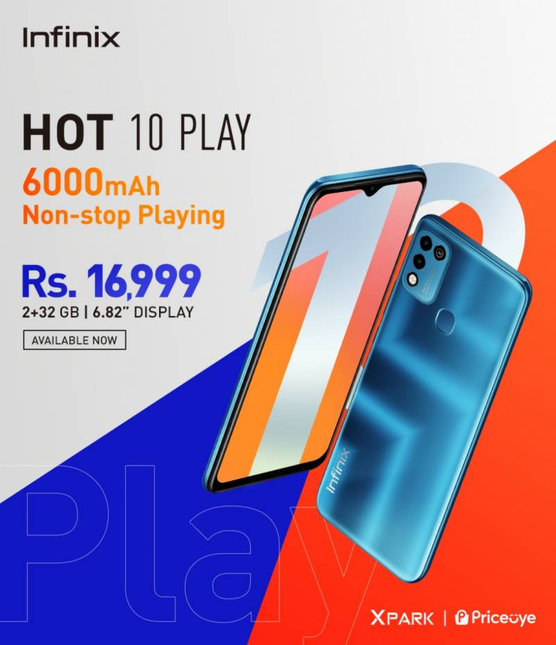 Infinix unveils latest Hot 10 play at PKR 16,999