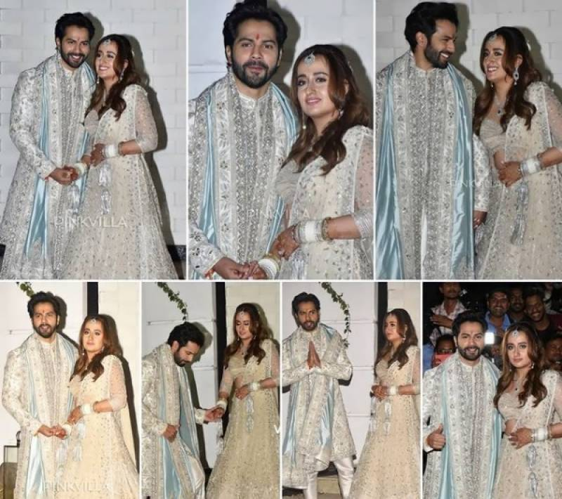 Varun Dhawan and Natasha Dalal tie the knot in private and traditional sunset wedding