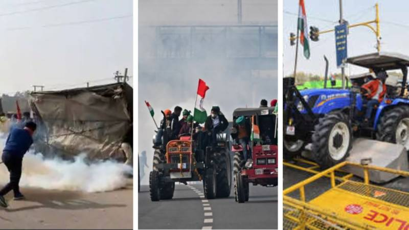 #TractorParade – Clashes break out as Indian farmers begin massive rally in capital
