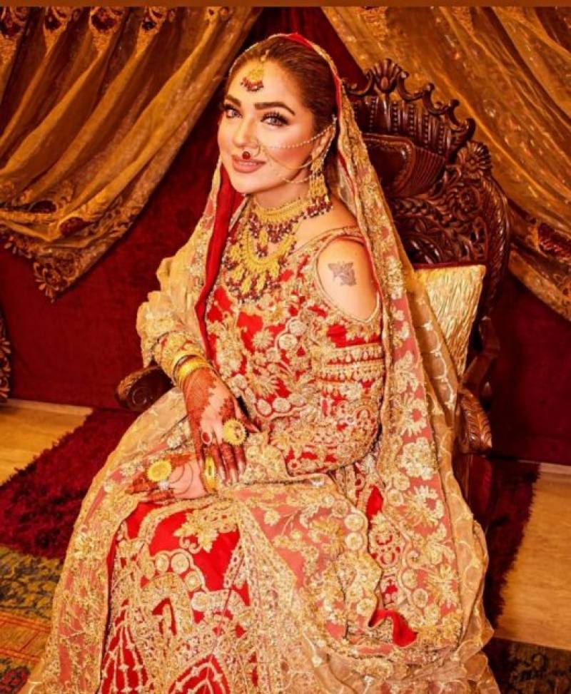 Natasha Ali shares her wedding pictures with fans