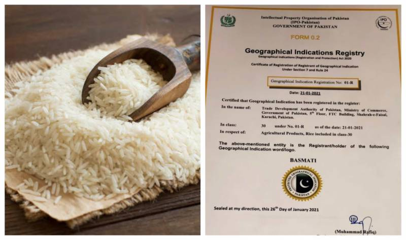 Pakistan secures GI tag for its Basmati