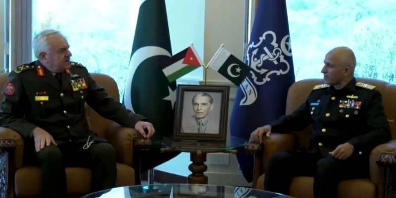 Jordan's top military leader calls on Pakistan Naval Chief to discuss maritime affairs, regional security
