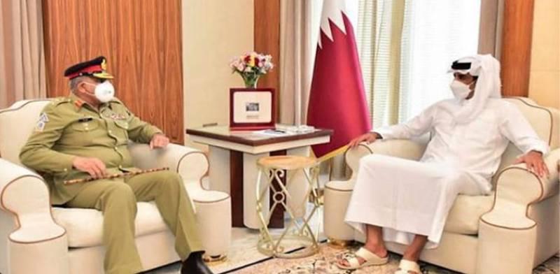 Pakistan Army Chief, Qatar Emir discuss regional security, defence cooperation