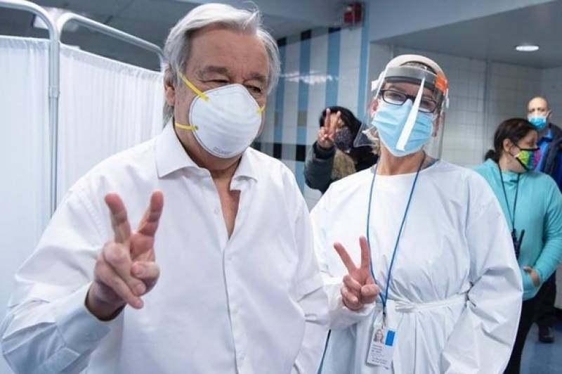 UN Secretary General gets vaccinated against Covid-19
