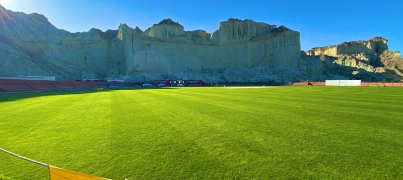 ICC, legends wonderstruck by scenic Gwadar Cricket Stadium