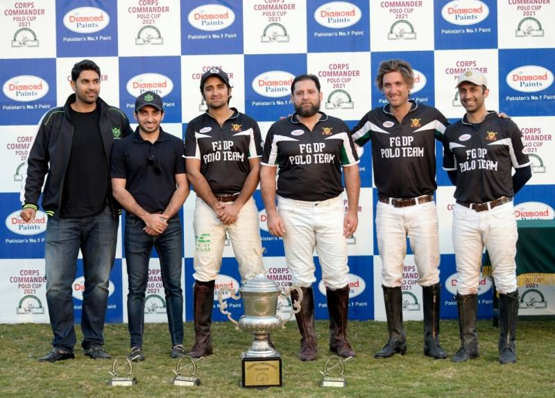 Corps Commander Diamond Paints Polo Cup: FG Polo/Diamond Paints win trophy