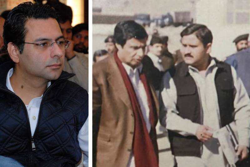 Moonis Elahi goes nostalgic, shares a rare picture of father with CM Buzdar