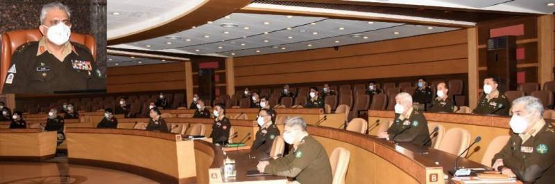 COAS Bajwa chairs 239th Corps Commanders' Conference at GHQ (VIDEO)