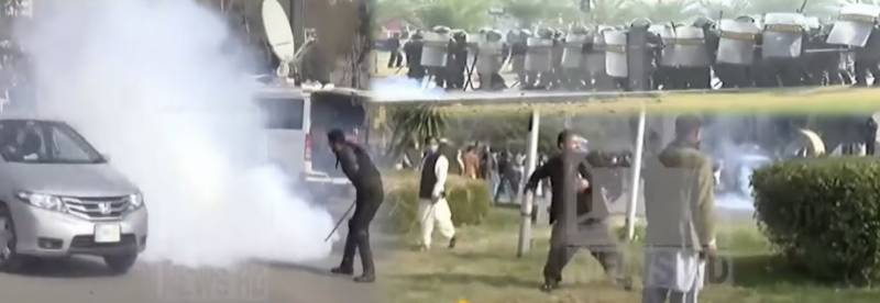 Chaos in Islamabad's D-Chowk as govt employee's protest over pay rise