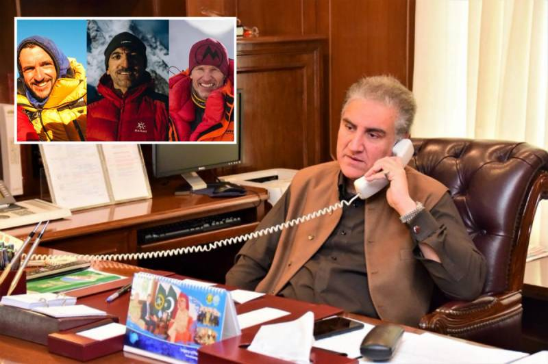 K2Expedition2021 – FM Qureshi assures Chilean counterpart of all possible efforts to trace missing mountaineers