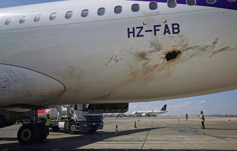 Passenger plane catches fire after Houthi rebels attack Saudi Arabia's airport