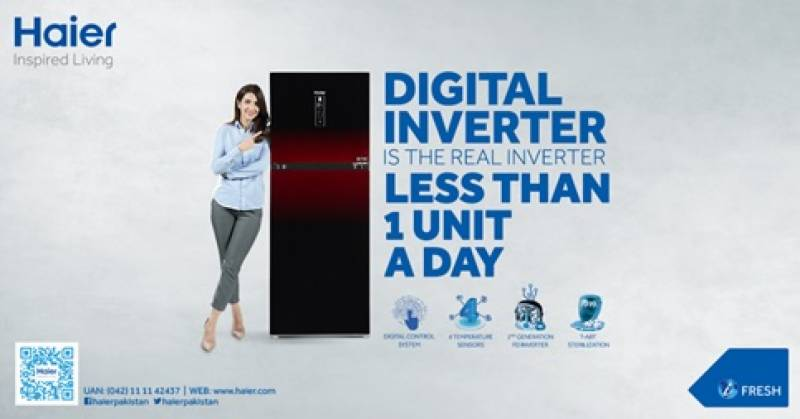 Haier Digital Inverter Refrigerator is real inverter – Less than one unit a day