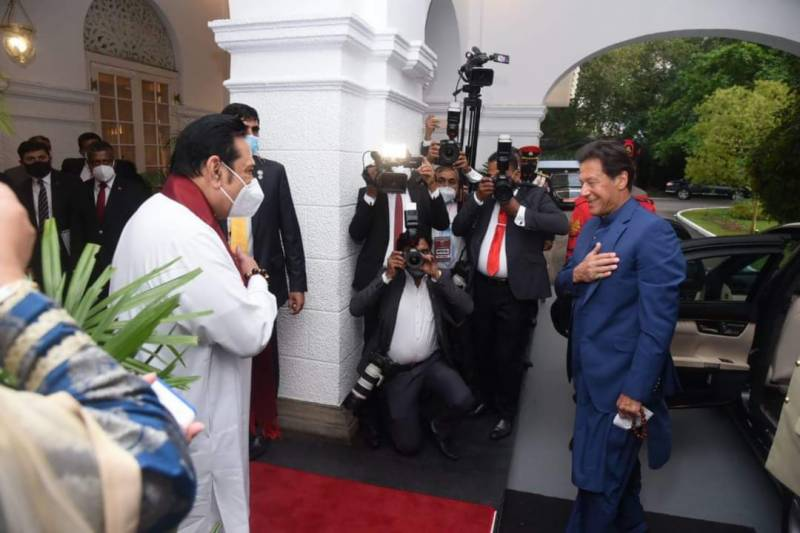 Pakistan's Imran Khan holds extensive consultations with Sri Lankan PM at Temple Trees