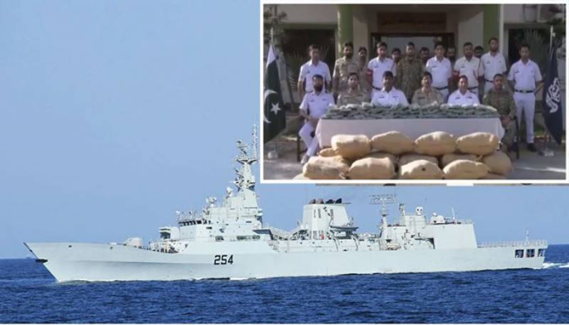 Pakistan Navy seizes drugs worth $2.2bn in joint operation with ANF